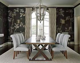 wallpaper in dining room 20 eye catching wallpapered rooms