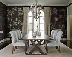 Bamboo dining room wallpaper