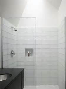 bathroom modern tile ideas backsplash:  modern bathroom white tile shower backsplash randall street residen