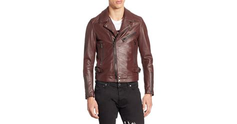 Diesel Dz4291 Gold Leather lyst diesel black gold lorenzo slim fit leather jacket in for