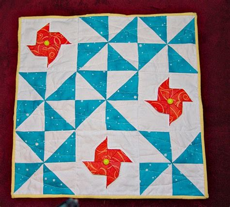 Folded Quilt by Raggie Fabric Folded Pinwheel Quilt
