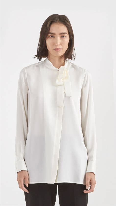 Theory Blouse by Theory Yumcha Blouse In White Lyst