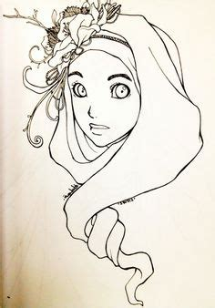 tutorial hijab untuk anak tk a chibi in hijab i love how it s a mixt of cultures by