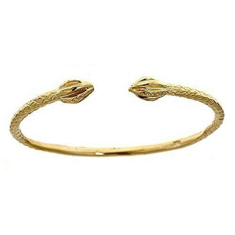yellow gold baby west indian bangle  bulb ends