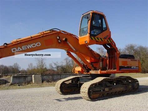 daewoo s470lcv 2004 caterpillar digger construction