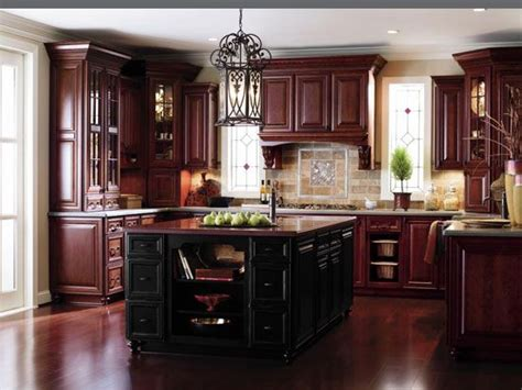 cherry wood cabinets kitchen islands countertop materials and hardware on pinterest