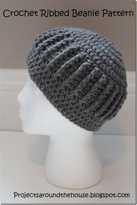 pattern crochet ribbed hat crochet ribbed beanie pattern knit crochet sew stitch