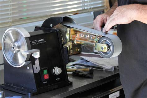 knife sharpening bench grinder tradesman dc grinder with the multitool belt attachment tradesman grinder