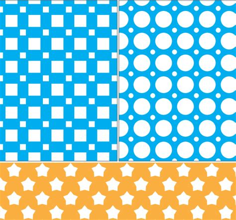 svg square pattern square circle and stars seamless pattern vector