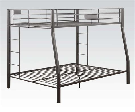 bunk beds full over queen full over queen limbra black sand metal bunk bed