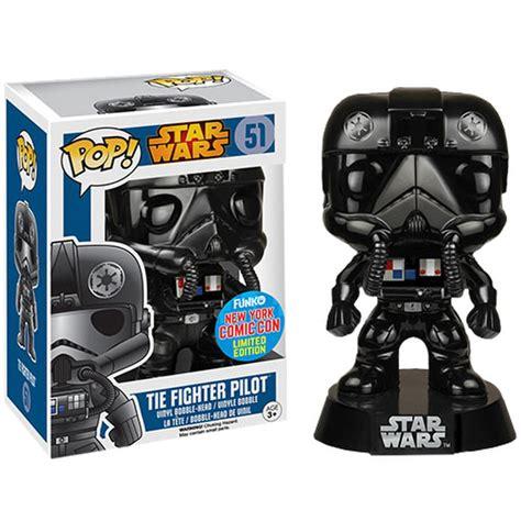 star wars a pop 0439882826 nycc star wars tie figher pilot black chrome exclusive pop vinyl figure merchandise zavvi