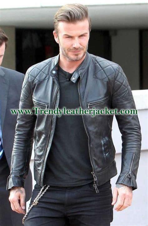 Jaket Kulit Front Belt David Beckham Replica Black Real Leather Jacket Trendy