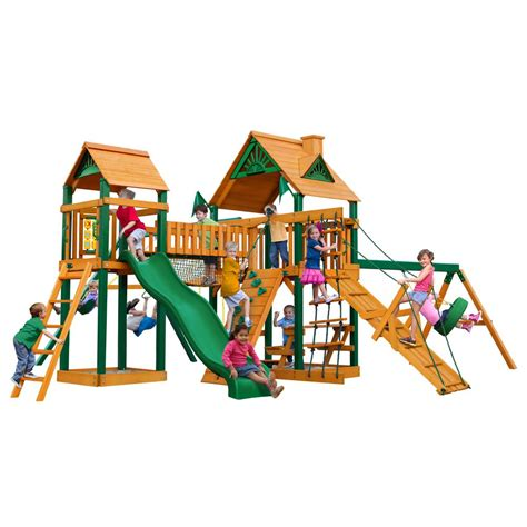 gorilla swings gorilla playsets pioneer peak with timber shield cedar