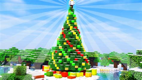 how to make an xmas tree on minecraft how to build a tree in minecraft creative building