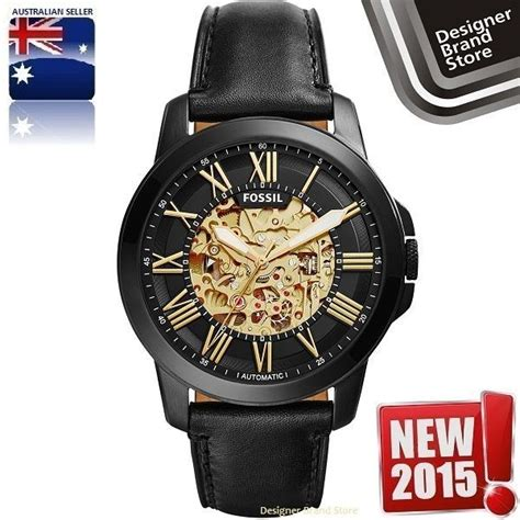 New Selempang Fossil 9210 2 Leather new fossil mens grant automatic skeleton black leather me3094 black leather