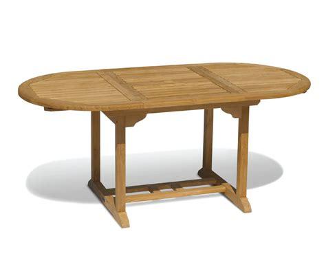 brompton narrow teak extendable outdoor dining table 120cm