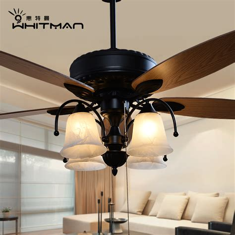 dining room ceiling fans with lights buy american european retro living room dining fan lights