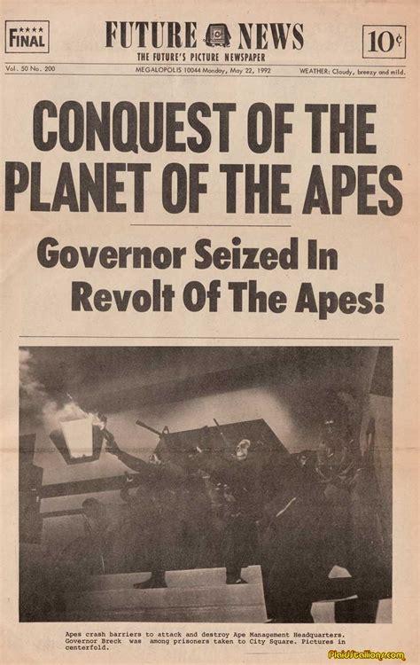 the conquest of the conquest of the planet of the apes news paper i rise of the apes i plaidstallions com