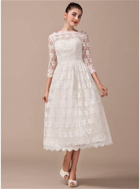 Fã R Hochzeitskleid by A Linie Princess Linie Schulterfrei Wadenlang Spitze