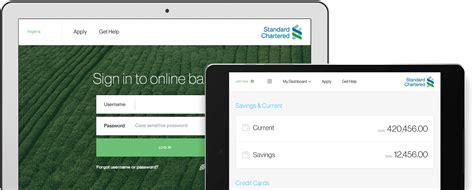sc bank login fresh new of banking standard chartered