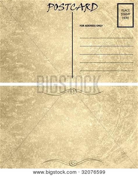 front and back postcard template vintage empty blank postcard template front and back stock