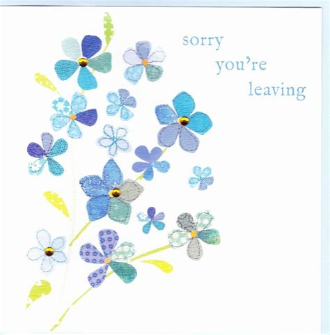 strumming pattern for you re not sorry forget me not leaving card karenza paperie