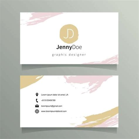 graphic design card templates graphic designer name card template free vector