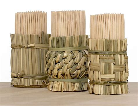 The Ultimate Bar Toothpicks by Woven Toothpick Holders The Green
