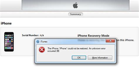 how to fix itunes error 9 on iphone 6 6s se 7 5 5s 5c