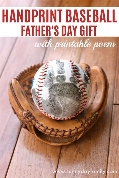 craft for s day gift handprint baseball s day gift with free printable
