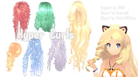 hair mmd download mmd parts hair hyper curls by colorsoforion on