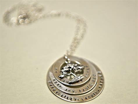 family tree necklace childrens names necklace sterling silver