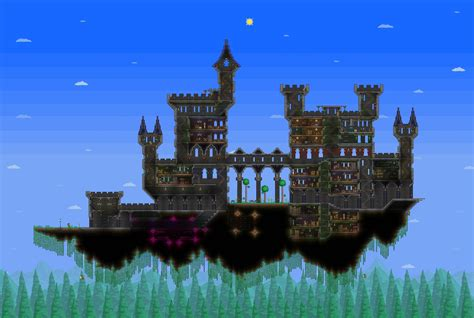 L Post Terraria by I Got Bored So I Made A Floating Castle Terraria