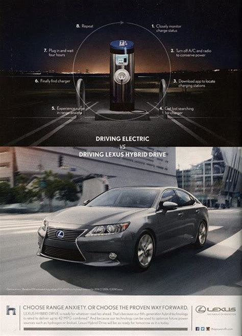 lexus ads lexus ad slamming electric cars angers ev supporters