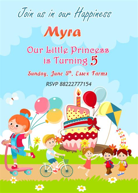 Birthday Wishes Invitation Cards