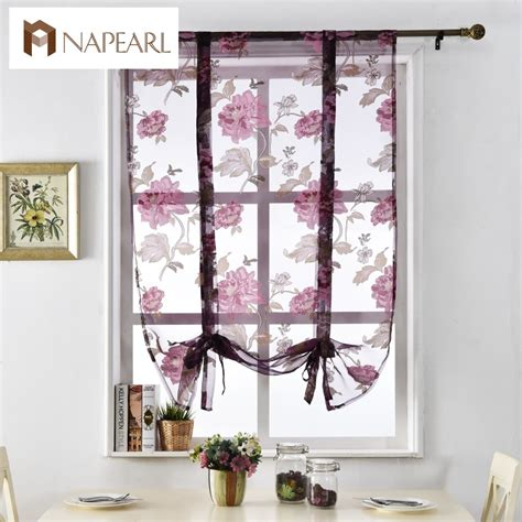 short door curtains floral roman curtains short kitchen door curtains purple