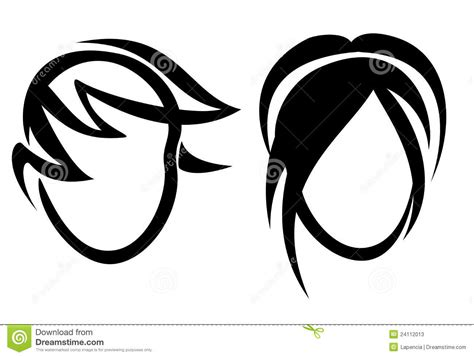 symbols in haircuts symbols in haircuts haircut or hair salon symbol stock