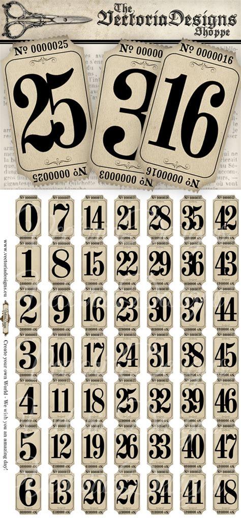 printable numbers vintage vintage tickets strips with numbers vintage hobby crafting