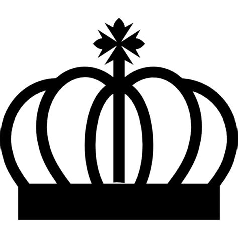 royal crown curved lines with cross symbol icons free