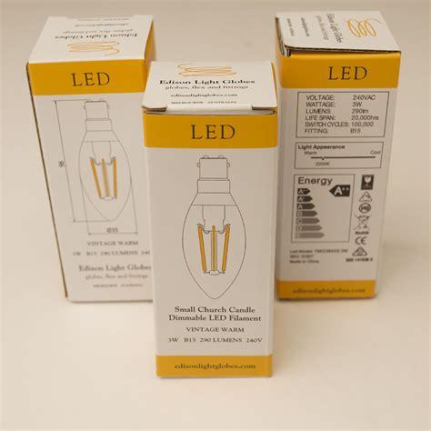 Led Candle Filament 3 watt dimmable filament led sbc candle bulb