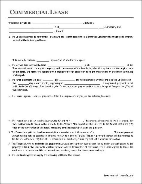 simple commercial lease agreement template free free lease agreement template real estate forms