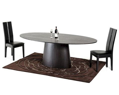 Contemporary Dining Table Set Contemporary Wenge Dining Set W Oval Dining Table 44d510 Set