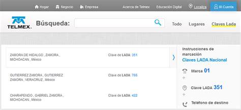 Ladas De Mexico Consulta Las Claves Lada Telmex