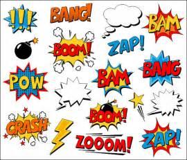 Text Flower Symbols - superhero clipart comic book clip art comic text speech