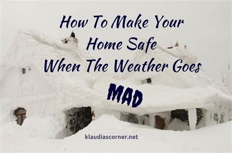 check the weather forecast how to keep your home safe