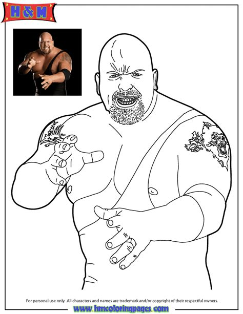 coloring pages wwe superstar wwe wrestling the big show coloring page h m coloring