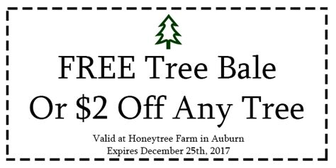 tree farm coupon honeytree farm auburn tree farm