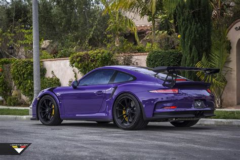 Colors That Go With Black And White by Purple Beast Vorsteiner Goes To Town On Porsche 911 Gt3