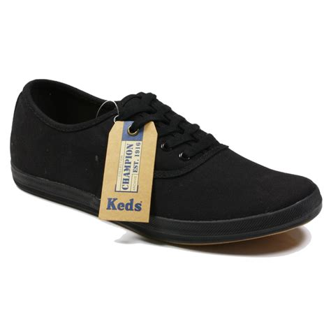 keds unisex chion black plimsoles sneaker shoes size uk