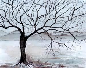 winter tree winter tree painting by brenda owen